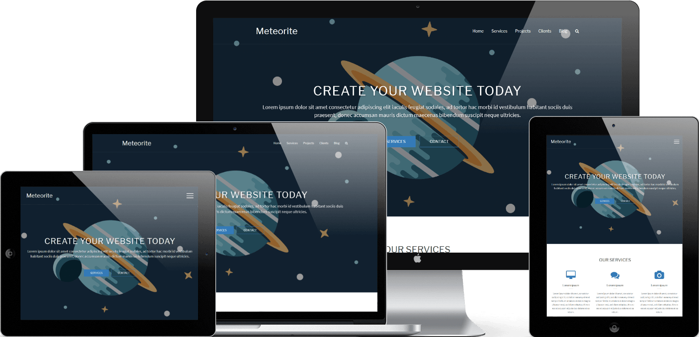 Meteorite theme is responsive